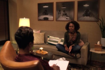 black woman in therapy